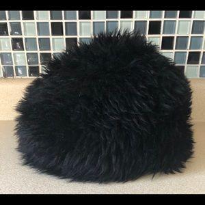 Other - Vintage Lamb Fur Hat Black